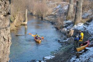 Zima na Wiercicy, Spływ kajakowy