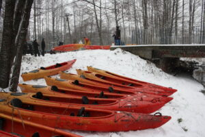 Start spływu Zimowego Sygontka